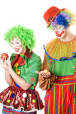Inequity in the world of clowns royalty free stock photography