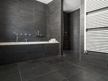 Inerior view of a modern bathroom Royalty Free Stock Images