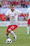 Inernational Friendly football game Filip Starzynski Royalty Free Stock Photos