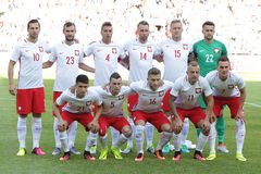 Inernational Friendly football game Polish national team stock photography