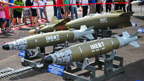 Inert Laser Joint Direct Attack Munition bombs Royalty Free Stock Photography