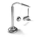 Inertia: metallic toy made of metallic balls Royalty Free Stock Photography