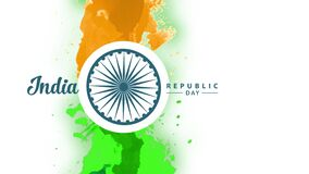 India independence day design with watercolor
