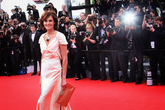Ines de la Fressange. Attends the Premiere of 'Irrational Man' during the 68th annual Cannes Film Festival on May 15, 2015 in Cannes, France Royalty Free Stock Images