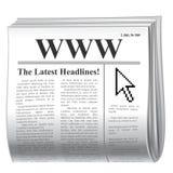 Inet Nachrichten Lizenzfreies Stockfoto