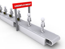 Inevitable unemployment Royalty Free Stock Image