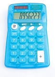 Inexpensive solar powered electronic calculator. Stock Photos