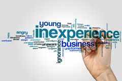 Inexperience word cloud Stock Image