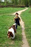 A infância. Foto de Stock