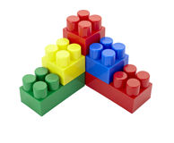 Infância da instrução da construção do bloco do lego do brinquedo Fotografia de Stock Royalty Free