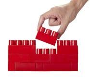 Infância da instrução da construção do bloco do lego do brinquedo Fotos de Stock