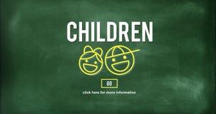 A infância das crianças caçoa o conceito do Web site da prole Imagens de Stock Royalty Free