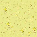 Infância heterogêneo do amarelo floral do fundo ilustração royalty free