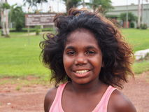 Infödd flicka från Tiwi, Australien Fotografering för Bildbyråer