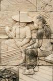 Infödd stöpningskonst på väggen Royaltyfri Fotografi