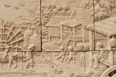 Infödd stöpningskonst på väggen Royaltyfri Foto