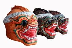 Infödd thailändsk stilmaskering Arkivbild