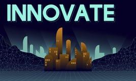 Införa nyheter det innovativa begreppet för arkitekturskyskrapastrukturen royaltyfri illustrationer