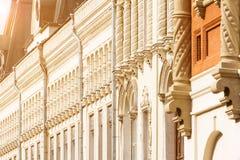 Infall dekorerad fasad Royaltyfria Bilder