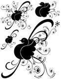 infall för 3 konstfågelgarneringar royaltyfri illustrationer