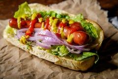 Infall grillad Hotdog arkivfoto