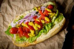 Infall grillad Hotdog royaltyfri fotografi