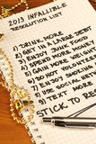 Infalliable new year's resolution list. Infalliable resolution list with easy to achive goals for 2013 Stock Photos