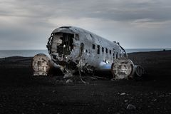 The infamous DC-30 Plane Wreck stock images