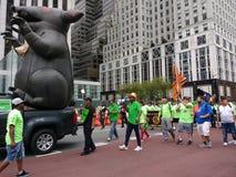 Inflatable Rat, New York City Labor Day Parade, NYC, NY, USA stock photography