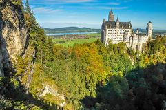 Neuschwanstein Castle from Mary`s Bridge royalty free stock images