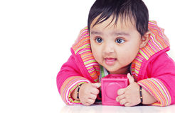 Infant 6-8 month stock photo
