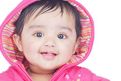 Infant 6-8 month. Portrait of a smiling baby Stock Photography