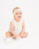 Infant age ten months Stock Photography