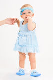 Infant age ten months Stock Photos