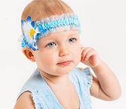 Infant age ten months Royalty Free Stock Photos