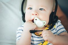 Infant Baby Child Boy Six Months Old. Little Baby Child Boy Six Months Old royalty free stock photography
