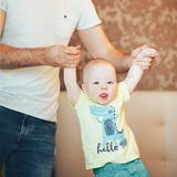 Infant Baby Child Boy Six Months Old. Little Baby Child Boy Six Months Old stock image