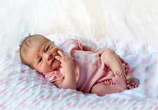 Infant baby girl Stock Image