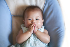 Infant baby girl face Royalty Free Stock Photos