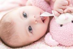 Infant baby girl Stock Image