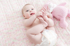 Infant baby girl Royalty Free Stock Photos