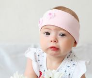 Infant Baby In A Hat Royalty Free Stock Photography