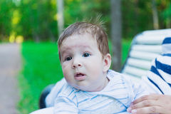 Infant baby outdoors Stock Photography