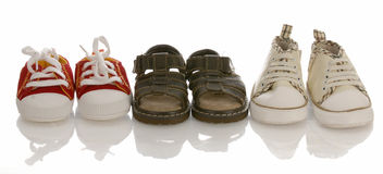 Infant or baby shoes Royalty Free Stock Images