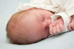 Infant baby sleeping Stock Photography