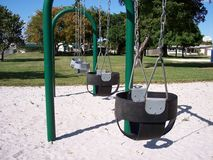 Infant Baby Swings Park Stock Images