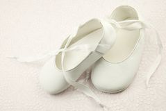 Infant Ballet Slippers Royalty Free Stock Images