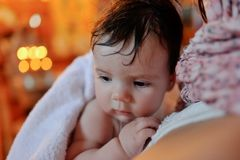Infant baptism Stock Photos