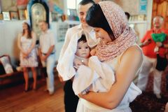 Infant baptism Royalty Free Stock Photo