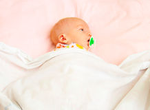 Infant in blanket Royalty Free Stock Photos